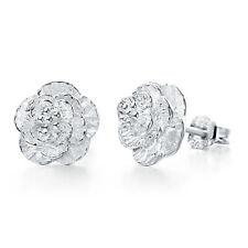 925 Sterling Silver Elegant Stud Butterfly Romantic Earrings Women Jewelry Gifts