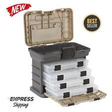 Fishing Tackle Storage Box Tool Organizer Lures Bait 4 Tray Tools System Plano