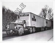 MACK TRUCKS 1958 B-73 TURNPIKE DOUBLES, John Vogel, Albany 8x10 B&W GLOSSY PHOTO