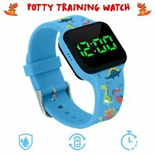 Potty Training Timer Watch with Flashing Lights and Music Tones - Water Resis.