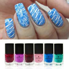 6pcs/set 6ml BORN PRETTY Stamping Polish Nail Art Stamp Plate Varnish  #13-18