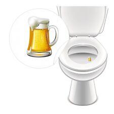 4 x Aufkleber BIERGLAS WC Toilette Toilettensticker Tattoo Pissior Klo Sticker