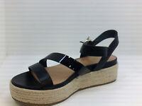 FitFlop Women's Shoes Platform Sandals, Black, Size 9.5 U2Xj