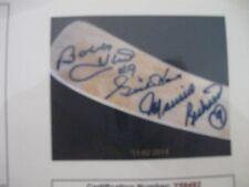 Bobby HULL,Gordi HOWE & Maurice ROCKET Richard -AUTOGRAPHED STICK  WITH COA