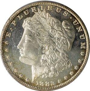 1882-CC Morgan Silver Dollar PCGS MS 64 DMPL Deep Mirror Proof-Like Carson City