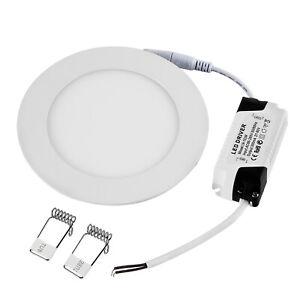 12W Panneau LED Super Mince Plafonnier Spot Encastré Blanc Chaud Dimmable Rond