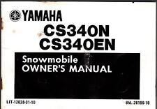 1989 YAMAHA  CS340N, CS340EN  LIT-12628-01-10 SNOWMOBILE OWNERS MANUAL (425)