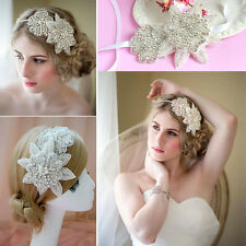 NEW Wedding PROM Bridesmaid Bride Rhinestone ribbon Hairband LADY Hair Headband