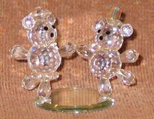 "Lenox Collections ""DANCING TEDDY BEARS"" ~ Crystal Figurine ~ #078240 ~ EUC!"