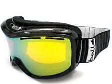BOLLE MONARCH womens Snowboard Ski Goggles Shiny Black/ Citrus Gold Mirror 20662