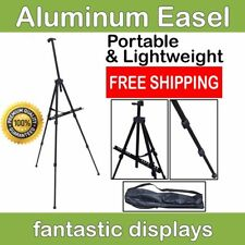 Handy Aluminum Easel for Painting Sketching Drawing Adjustable Tripod Carry Bag
