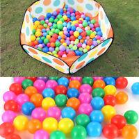 100pcs Colorful Soft Ocean Ball Secure Baby Kids Boy Girl Pit Toy Swim Fun Play