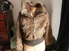Denim Co Ladies Faux Fur Bomber Jacket size 12