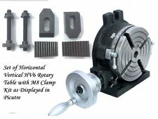 """6"""" (150 mm) Precision HV6-4 Slots Rotary Table with M8 Clamp Kit for Milling"""
