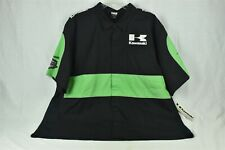 Kawasaki Motorcycle Button Down Race Shirt Black Green Men's Size 3XL NWT