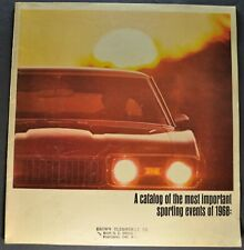 1968 Oldsmobile Sports Brochure Cutlass S 442 Toronado Excellent Original 68