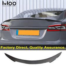 For Tesla Model S Carbon Fiber Rear Spoiler Trunk Wing 2012+ OEM Quality R Style