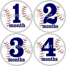 Monthly Baby Boy Age Growth Milestone T Shirt Stickers Baseball Sports