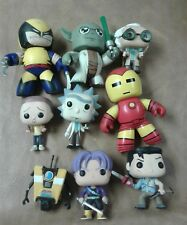 Lot of 9 funko mighty mucus rare wolverine doc brown Rick morty ash rare xmen