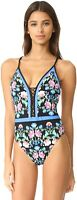 Nanette Lepore Womens 182437 Damask Floral Print One Piece Swimsuit Size XS