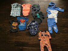 Gently Used Infant Boy's Clothing Lot of 11 Size 6-9 Months Carters