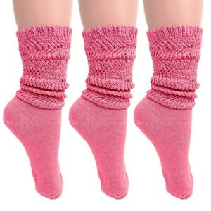 Cotton Lightweight Slouch Socks for Women Extra Thin Socks 3 PAIRS Size 9-11