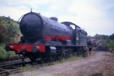 PHOTO  1975 RESTORATION PROJECT AT GROSMONT EX NER Q6 0-8-0 63395 ON THE SIDING