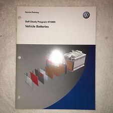 VW Manual 873603- Volkswagen Battery Study Program-------------------------NEW