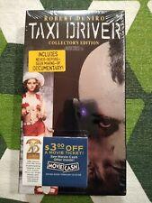 Sealed Taxi Driver Vhs Collector's Edition Martin Scorsese Robert Deniro