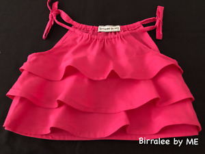 Beautiful Flounce Top Handmade by Birralee by ME Size 3