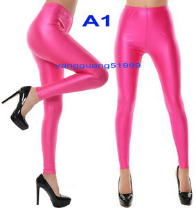 Sexy 8 Style Hot Pink Women Tights/Pants Trousers Catsuit Costumes Body Suit 392