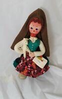 "Vintage Maria Helena souvenir Doll  12"" Tall"