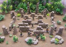 "Méso-aztec-Maya - ""ruiné Murs Pack"" - Pre Painted terrain 28 mm"