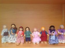 Wooden Dolls/Dollhouse Fun:Multi-Cultural Neighborhood Family & Friends-10 Dolls