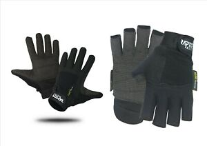 New Raptor Tough Padded Wheelchair/Crutch Full or 3/4 Fingered Gloves XS to XXL