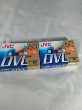 JVC DVC MiniDV 60 Minute Cassette Set Of 2