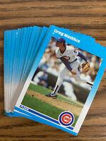 (20) Greg Maddux 1987 Fleer Rookie Card U68 NR-MT+ Chicago Cubs Lot