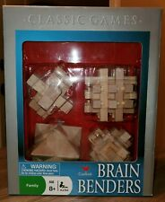 Brain Benders 4 Wooden Puzzles, 3D Wood pieces, (NEW Open Box)