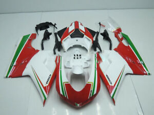Injection ABS Plastic Fairing Kit Bodywork For Ducati Corse 1098 848 1198 07-13