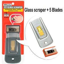 Verre de sécurité Grattoir avec 5 lames Allway Tools-Soft Grip Acier SGS