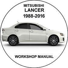 Mitsubishi lancer 1988-2016 Workshop Service Repair Manual