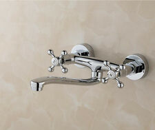 Modern Chrome Brass  Wall Mounted Kitchen Sink Mixer Tap Faucet  H72CD