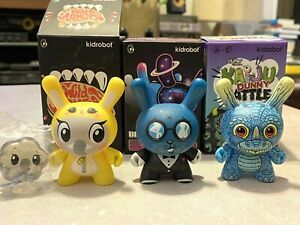 Lot of 3 Kidrobot Dunny - Wild Ones Evolved Kaiju Battle Elephant Kronk Groman