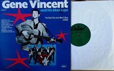 GENE VINCENT & HIS BLUE CAPS - BOP THAT JUST WON'T STOP - CAPITOL LP - 1974