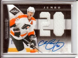 2011-12 Limited Jumbo Materials Jersey Numbers Signatures #30 Chris Pronger /25