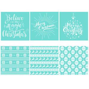 DIY Silk Screen Printing Stencil Christmas Transfer Mesh Cloth Bag Crafts Decor