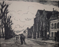 EGLISE ANDRESY RAYMOND RENEFER Gravure sur Bois Signee & Numerotee 15/50 IN4