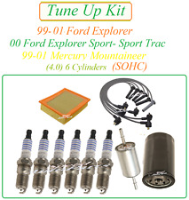 Tune Up for 99-01 Ford Explorer-Sport trac 4.0 v6 SparkPlug WireSet Air Fuel Oil