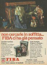 X7608 Greta bambola d'epoca e d'autore - FIBA - Pubblicità del 1977 - Advertis.