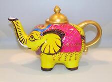 "Jameson&Tailor-Porzellan -Teekanne  0,6 L . "" Elefant  gelb 1822 ""  handgemalt"